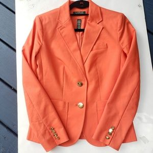 Lauren Ralph Lauren orange fitted blazer Sz 4